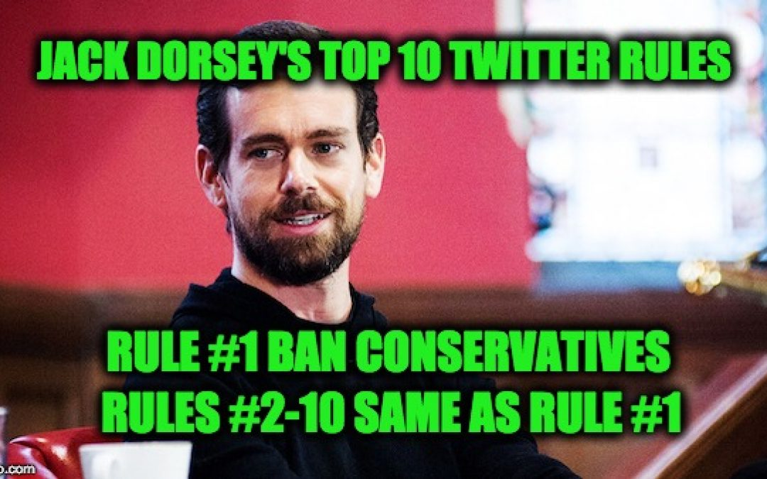 Twitter CEO Jack Dorsey Says Twitter Doesn't Act Upon Its Lefty Bias