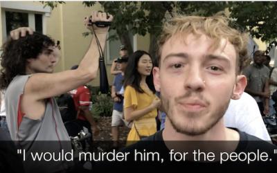 Antifa Protesters Threaten To Kill Trump