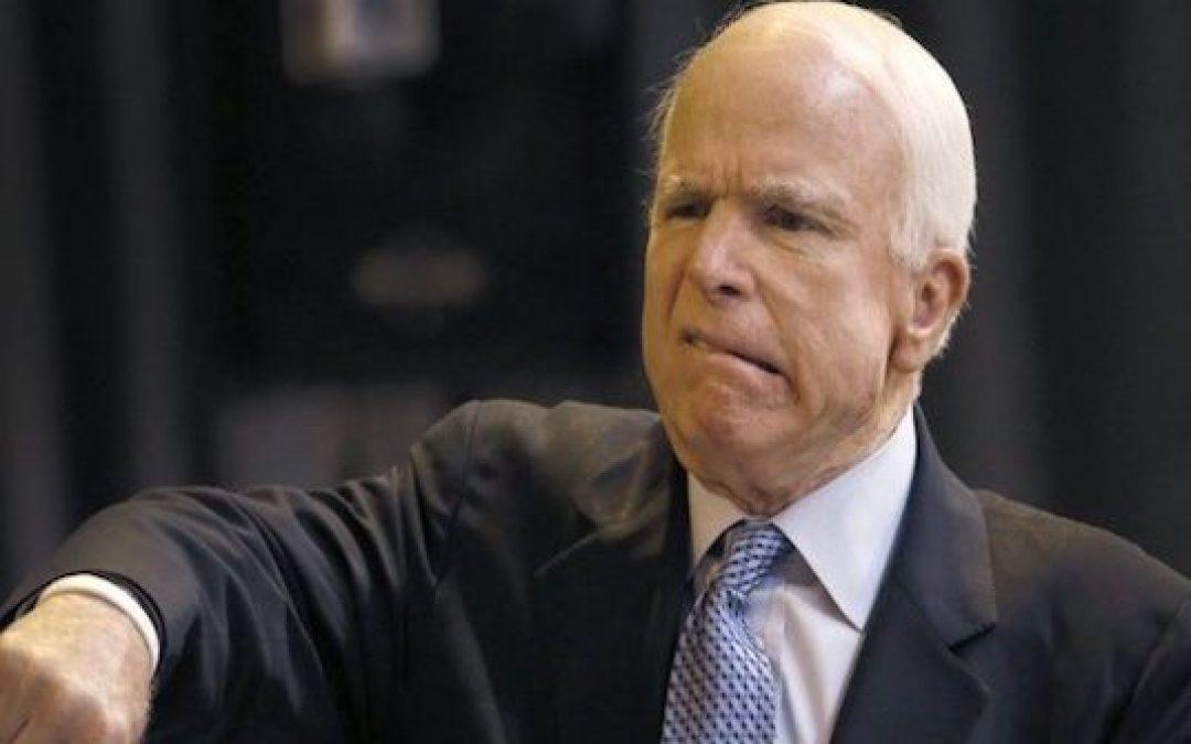 Political Civility BULL! John McCain Went Out As A Political A-Hole!