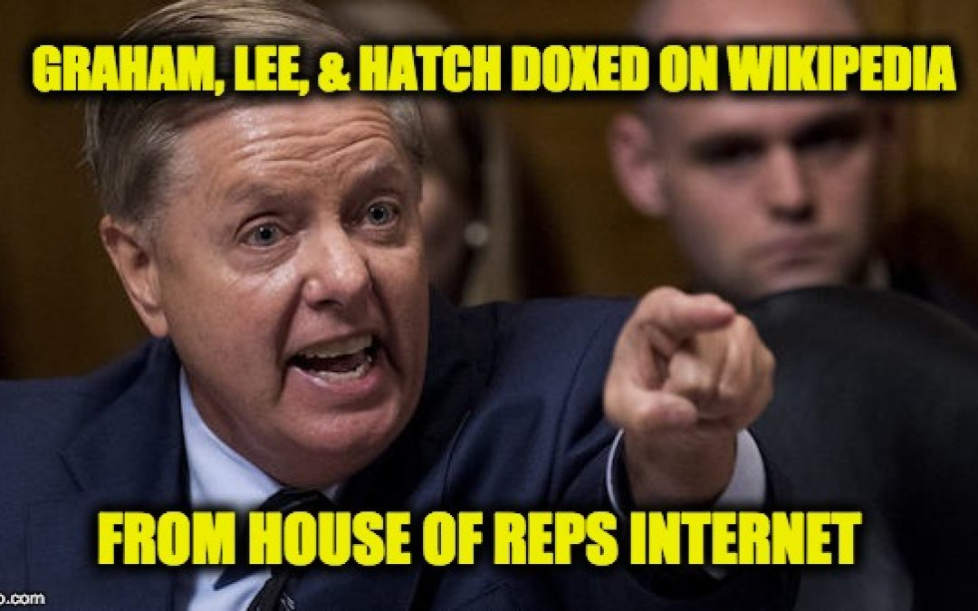 Someone On Capitol Hill Just Doxed Senators Graham, Lee, And Hatch