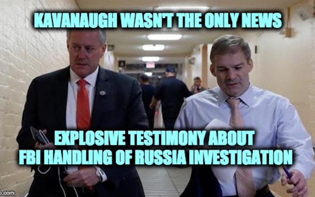'Explosive' Testimony: FBI Talked To DNC About Dossier/Started FISA Process  BEFORE Election