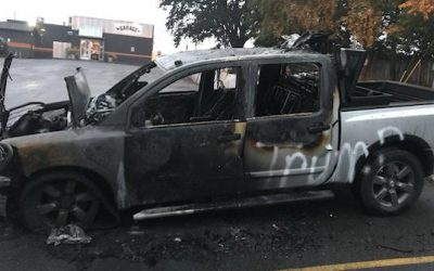Liberal Violence: Truck Set On Fire Because It Had Trump Bumper Stickers