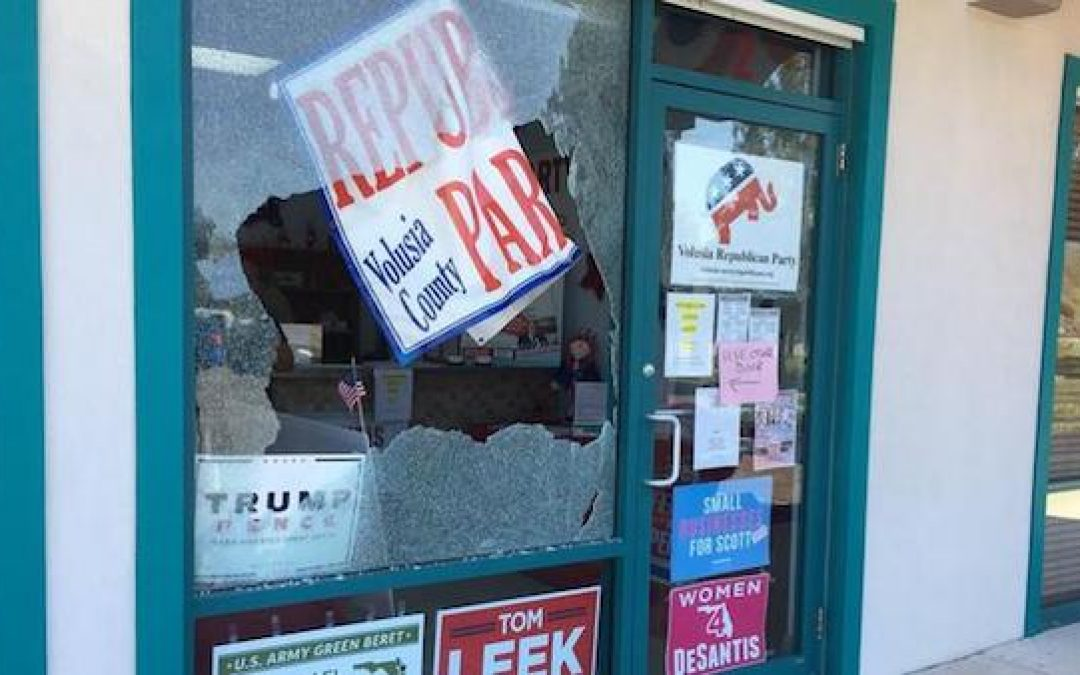 Gunman Shoots Windows of GOP Office and 40 Other Acts of Democrat Violence