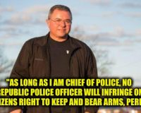 Republic WA. Police Chief Loren Culp: Take This Anti-Gun Law And Shove It