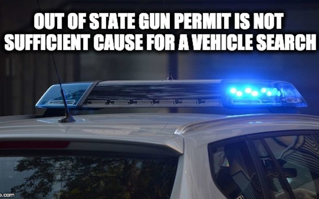 Gun Rights Win: Court Says NY Cops Can't Search Cars Over Out Of State Gun Permit