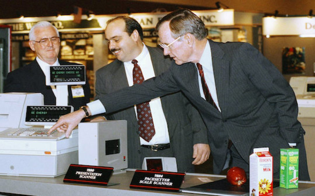Media Still Pushing Lie That Bush #41 Didn't Know What a Grocery Scanner Was