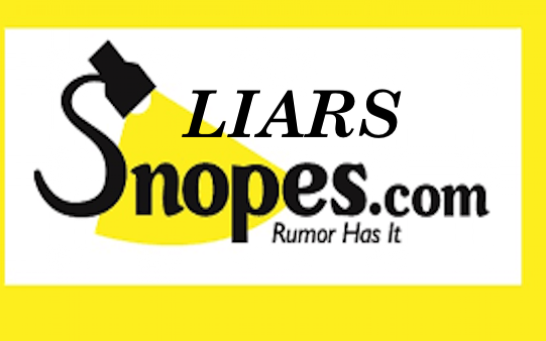Lefty 'Fact Checker' Snopes Claims Fake Left-Wing Attack on Trump is 'True'
