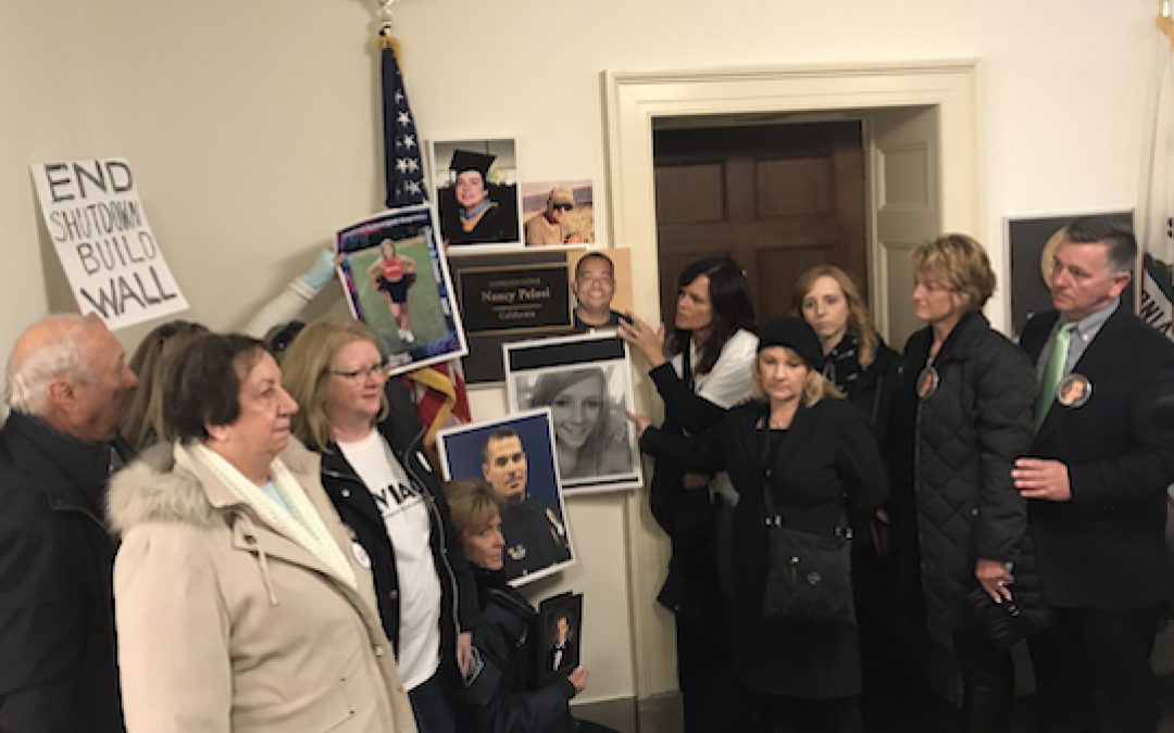 Families Of Illegal Alien Murder Victims Protest At Pelosi Office Chanting 'Build The Wall'