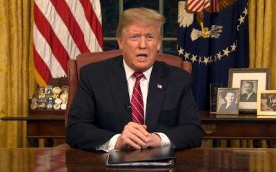 The Text And Video Of President Trump's Oval Office Border Security Address
