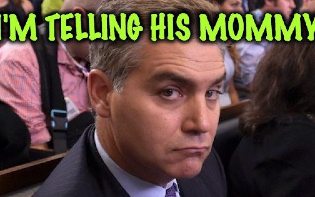 Poor Little Baby, CNN's Jim Acosta Upset President Didn't Call On Him At Hanoi Presser
