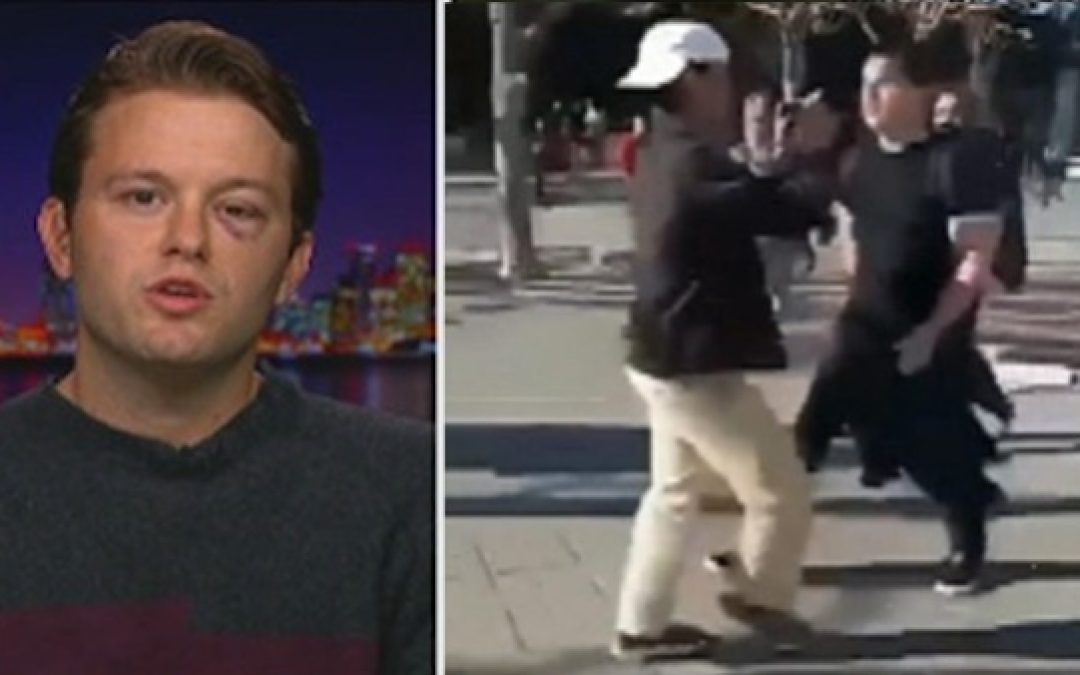 Media Ignores Real Political Violence: Berkeley Liberal Beating Conservative (VIDEO)