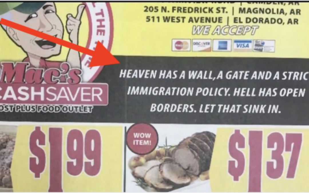 Heaven Has A Wall (Hell Doesn't): Grocery Store Advertisement Stirs Controversy