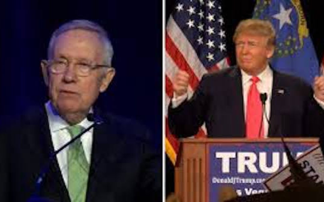 Harry Reid Bashes Trump. Trump Returns Fire. Left Goes Ballistic As Reid Dying Of Cancer
