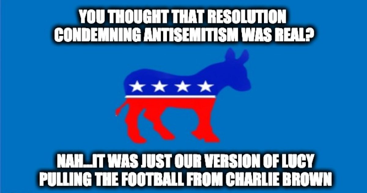 Democratic resolution Antisemitism
