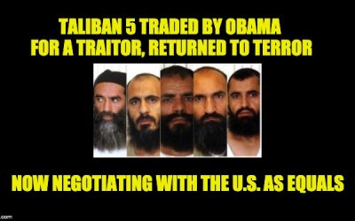 Taliban Five Traded By Obama For Traitor Bowe Bergdahl Now Face U.S. In Peace Talks