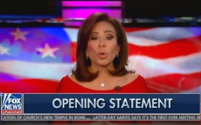 Pres. Trump, Other Fans Angry At FNC Decision Not To Air Judge Jeanine's Show