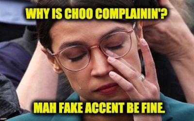 Ocasio-Cortez Melts Down Over Criticism Of Fake Black Accent