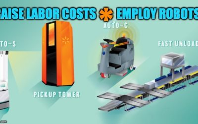 Liberals Push To Raise Minimum Wage So Walmart Employs Robots