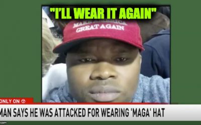 Liberal Violence: Black Man Wearing MAGA Hat Beaten By Cowardly Liberal Black Men