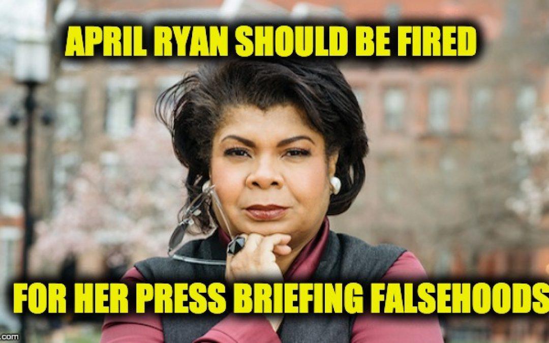 April Ryan Who Has Lied At Press Briefings Wants Sara Sanders Fired