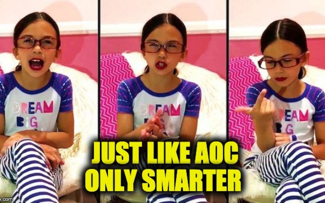 8-Year-Old Alexandria Ocasio-Cortez Impersonator Does AOC Better Than AOC