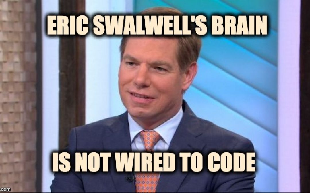 Eric Swalwell Embarrasses Himself With Weird Confession: 'Spoiler Alert: I'm A White Man'