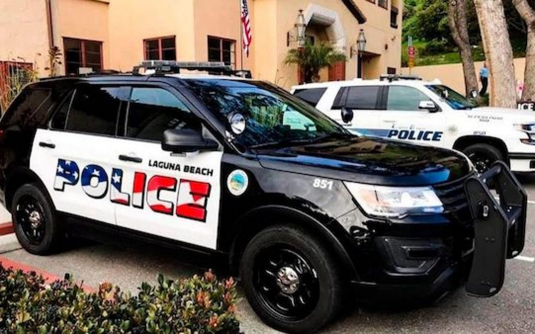 Patriotic Lettering For Laguna Beach, Ca. Police Cars Provokes Liberal Anger