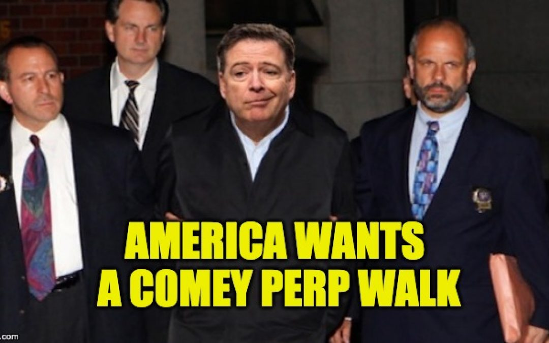 James Comey Is Getting Worried, Is A Perp Walk In His Future?