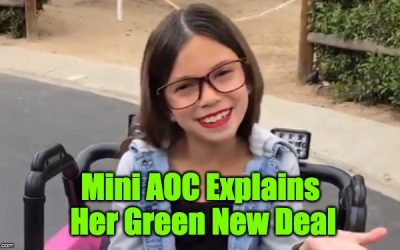 Heh! Mini AOC Is Back To Explain The Green New Deal