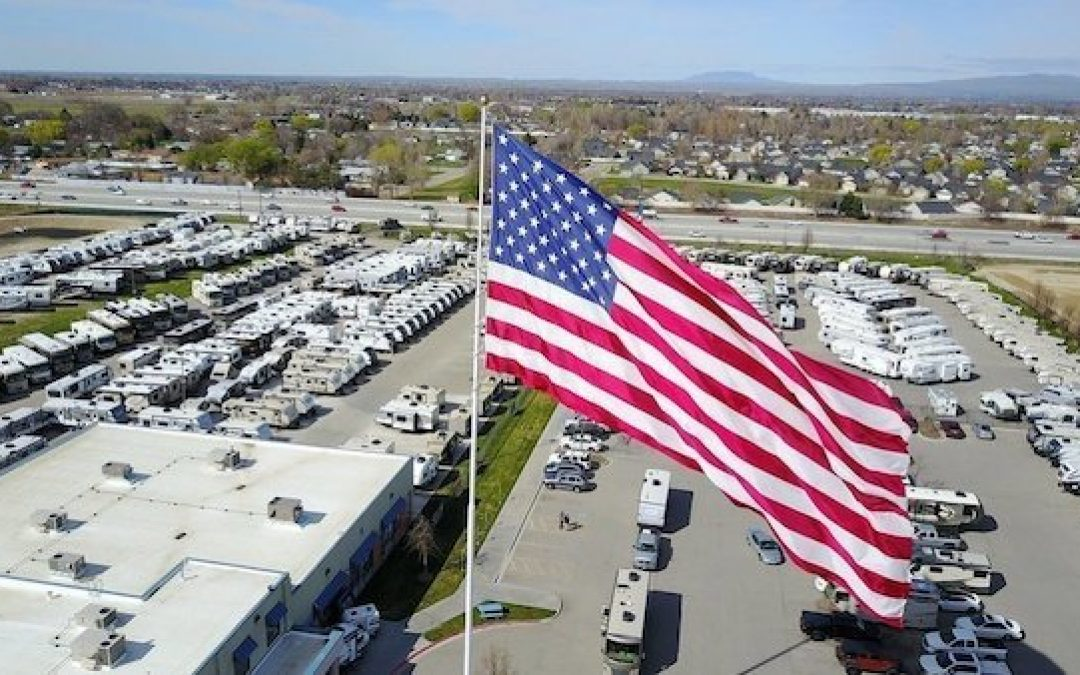 Camping World Fights N. Carolina City Demanding They Remove Giant American Flag