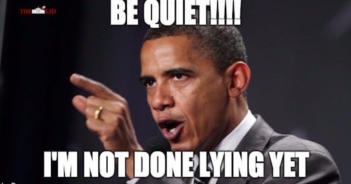 Barack Obama lies