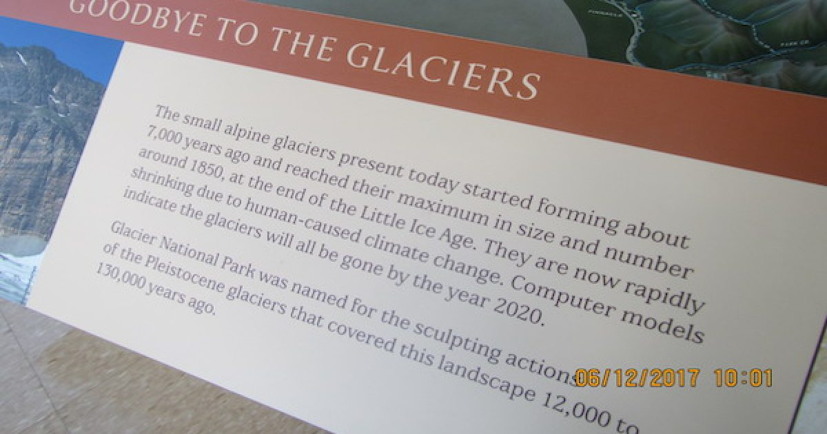 National Park Service glaciers