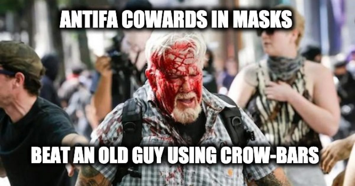 Antifa Cowards Crowbar