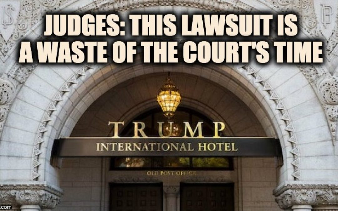 Appeals Court Dismisses Lawsuit Against Trump Over Emoluments Clause