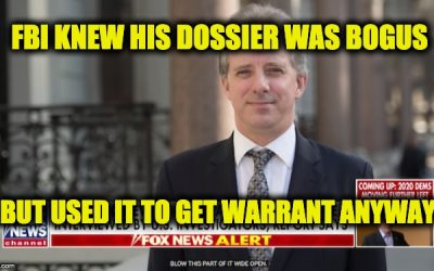Spygate: FBI Research Knew 90% Of Steele Dossier False Or Unverifiable By Early 2017