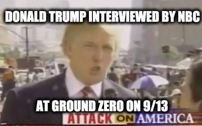 CNN And MSNBC Claim Trump Wasn't Near Ground Zero Around 9/11: Video Proof They're Lying