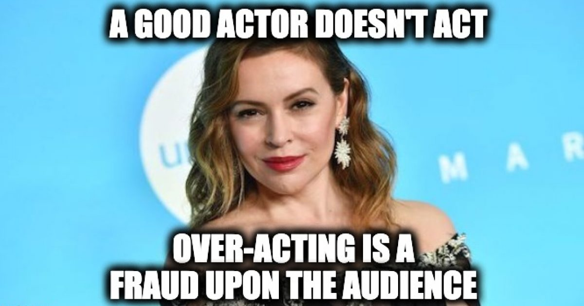 Alyssa Milano over-acting