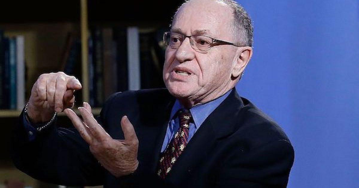 Alan Dershowitz Letter