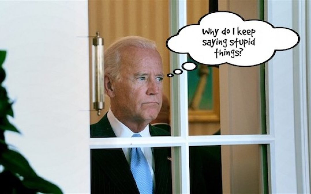 A New Gaffe Added To Joe Biden's Long History Of Saying Stupid Things At The Wrong Time.