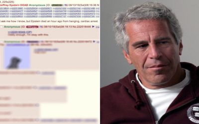 Post On 4Chan Announced Epstein Death 40 Minutes BEFORE News Became Public