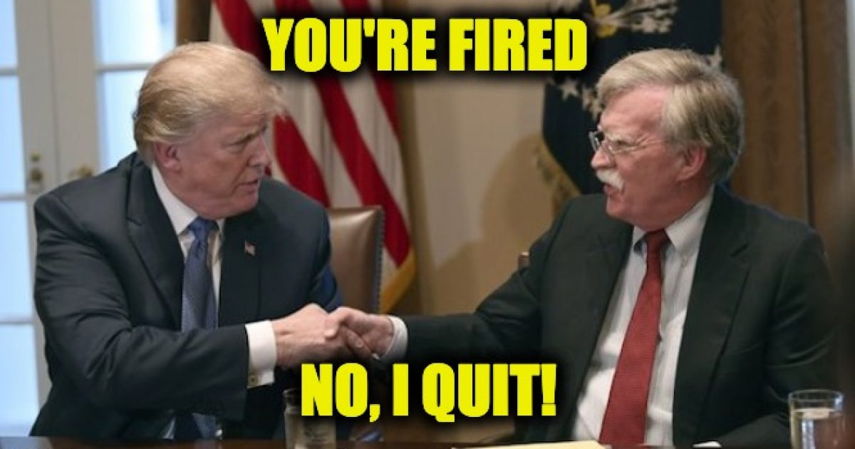 John Bolton fired