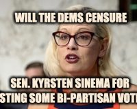 Dem. Bipartisanship? Sen Kyrsten Sinema Faces CENSURE For Casting Bi-Partisan Votes