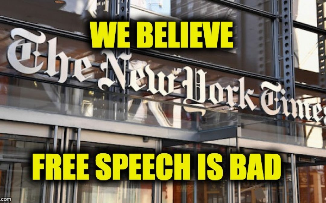 Heh! New York Times: 'Free Speech is Killing Us'
