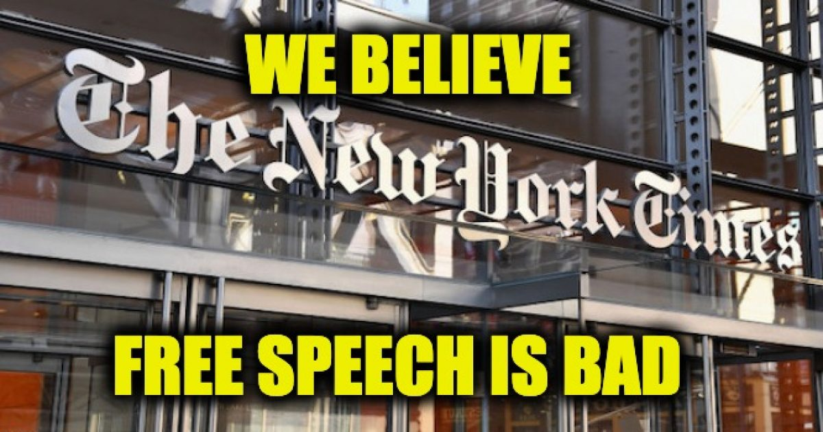 NY Times free speech