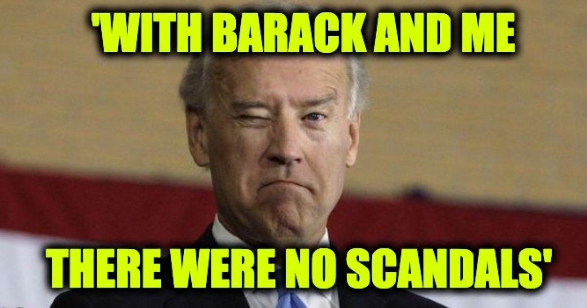 Biden no scandals