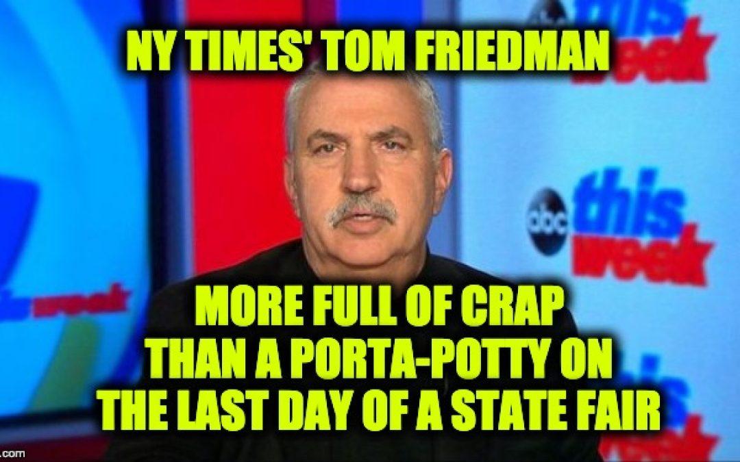 A Jewish Magazine Honors Jew-Hating Jew Tom Friedman