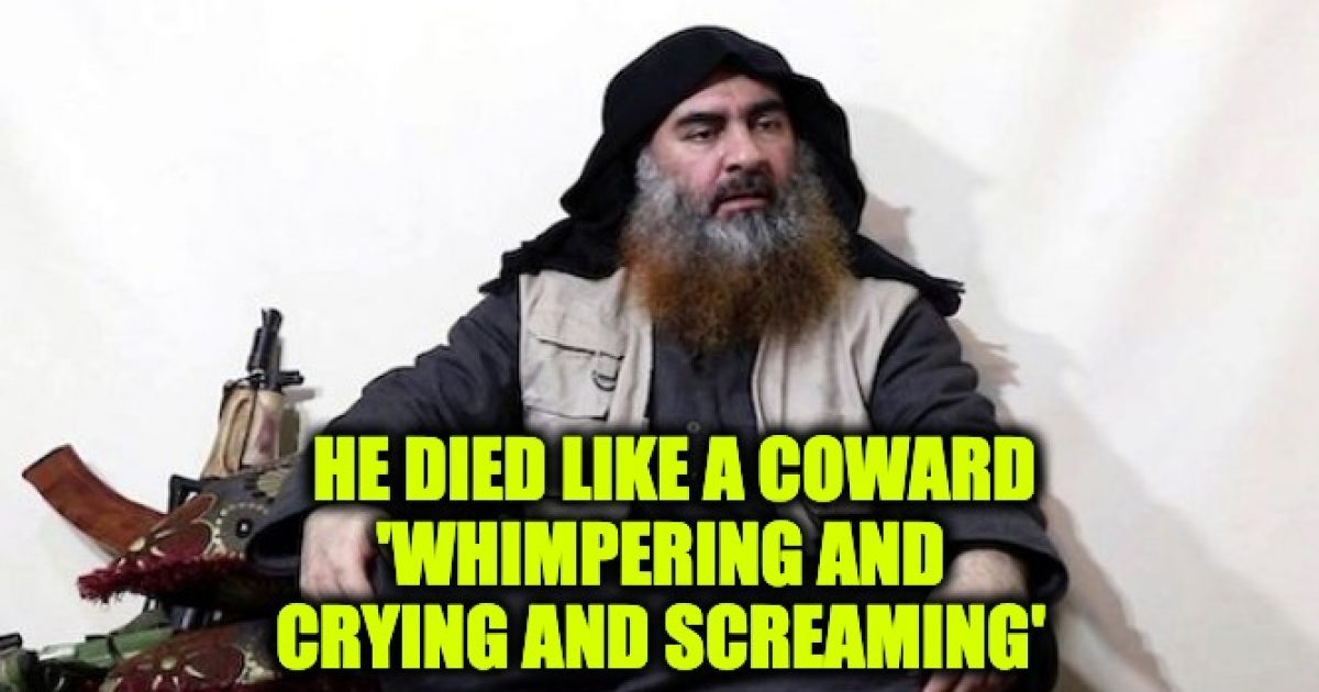 al-Baghdadi dead