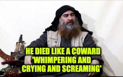 al-Baghdadi Died A Coward's Death: Includes Text/Video Trump's Full Press Conference