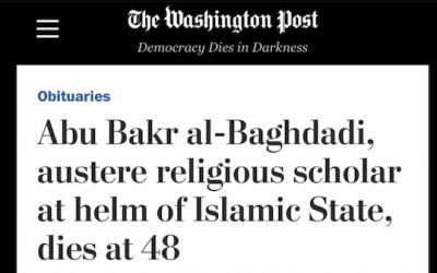 WAPO Publishes Fawning al Baghdadi Headline-Gets Slapped Around On Twitter