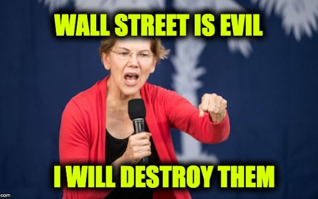 Wall Street Cutting Off Donations To Dems Over Elizabeth Warren Rhetoric